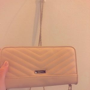 Aldo Clutch/Purse/wallet(Crossbody stringattached)